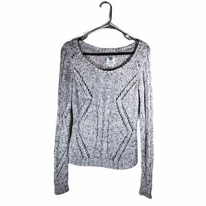 American Eagle Cable Knit Sweater Chunky Open Knit